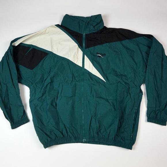 7840fd8c4edca Vintage Reebok Big Logo Windbreaker Jacket Men's L